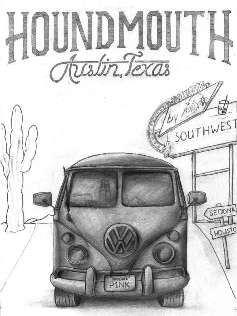 Houndmouth Gig Poster - image 1 - student project