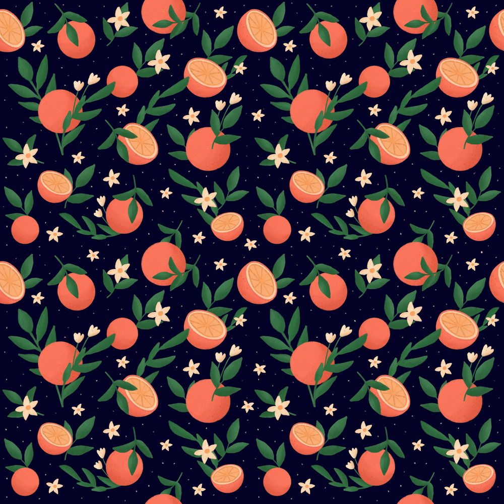 Pattern of oranges - image 1 - student project