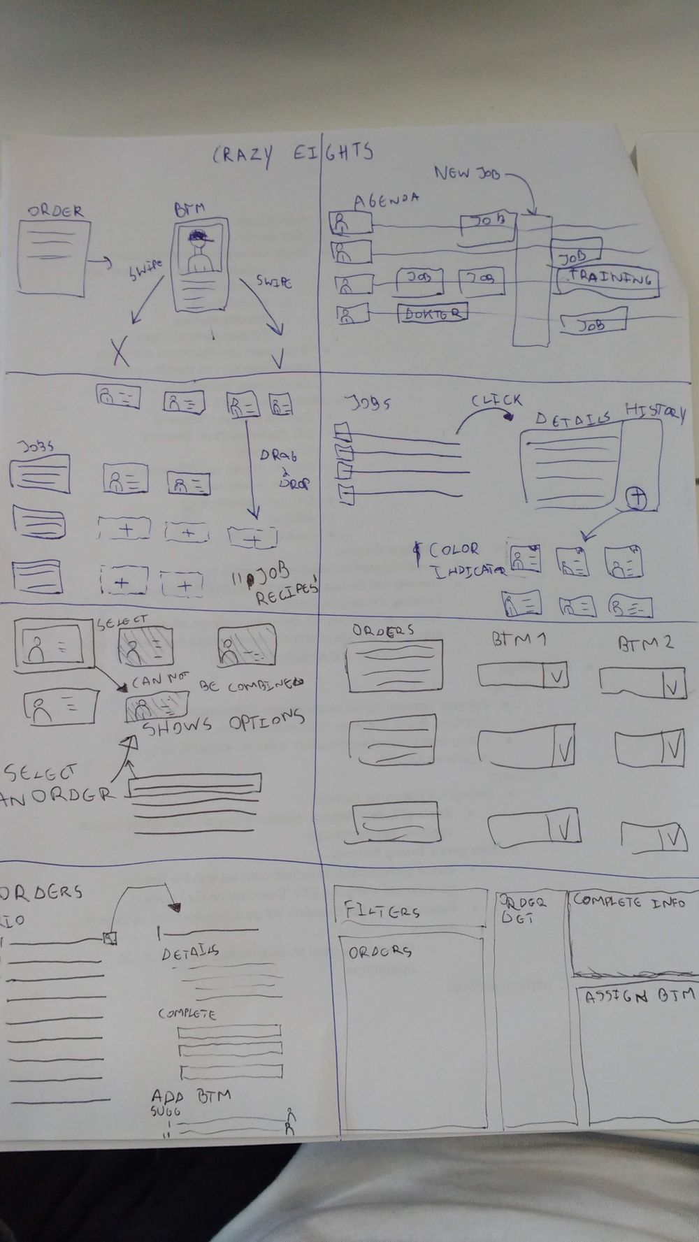 Planning interface - image 2 - student project