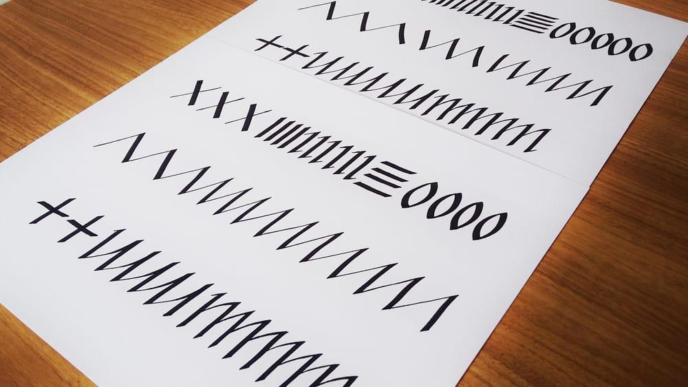 Italics following Seb Lester - image 1 - student project