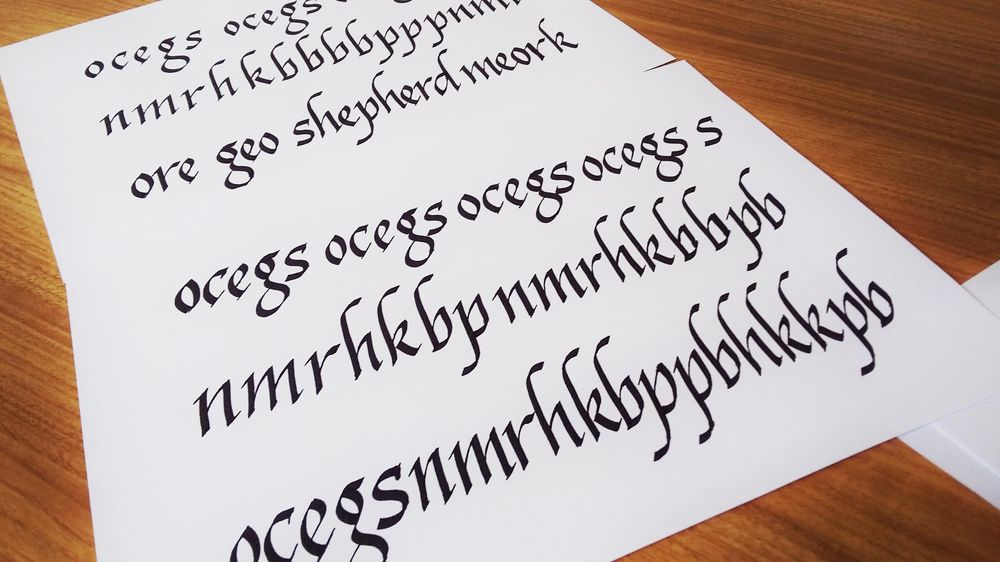 Italics following Seb Lester - image 2 - student project