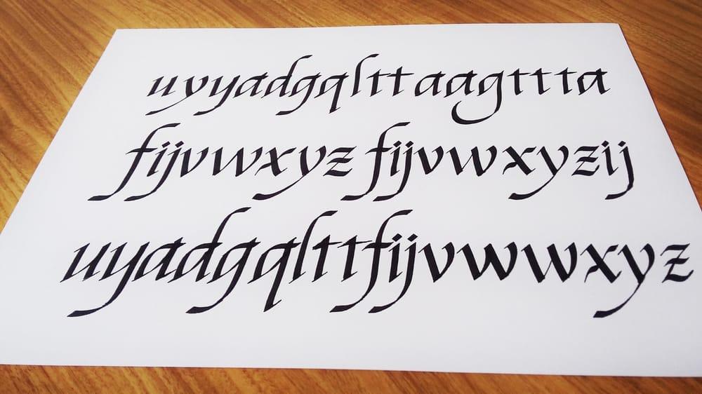 Italics following Seb Lester - image 3 - student project