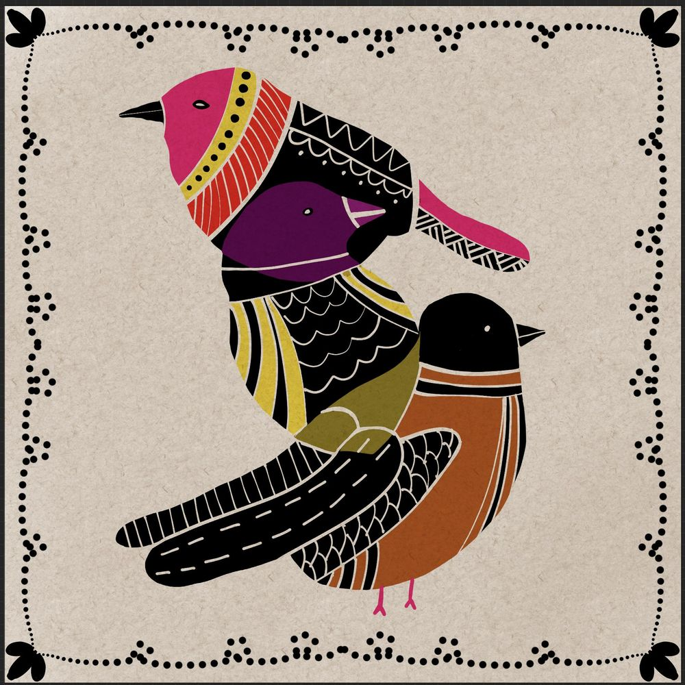 Folkart birds - image 1 - student project