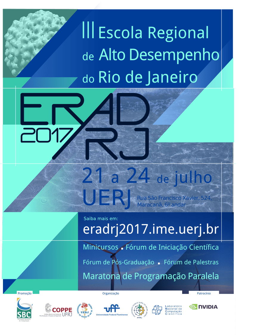 Poster for the Third Regional School of High Performance of Rio de Janeiro - image 1 - student project