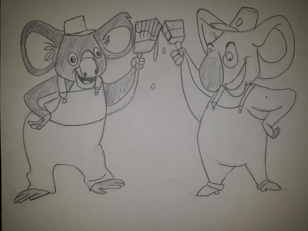 Koala character design for a painting company - image 3 - student project
