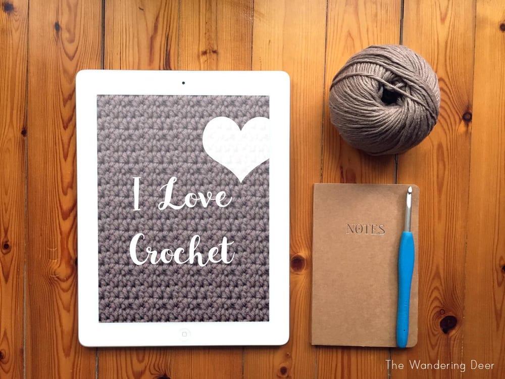 ipad mockup - I Love Crochet - image 1 - student project