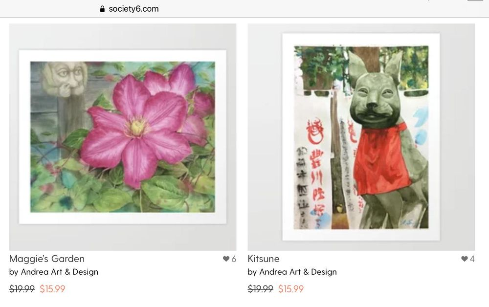My shop at Society6 - image 3 - student project