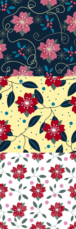 Multi-Color layered pattern brush - Sakura blossom - image 1 - student project