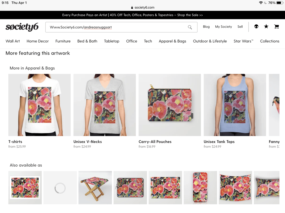 My shop at Society6 - image 1 - student project