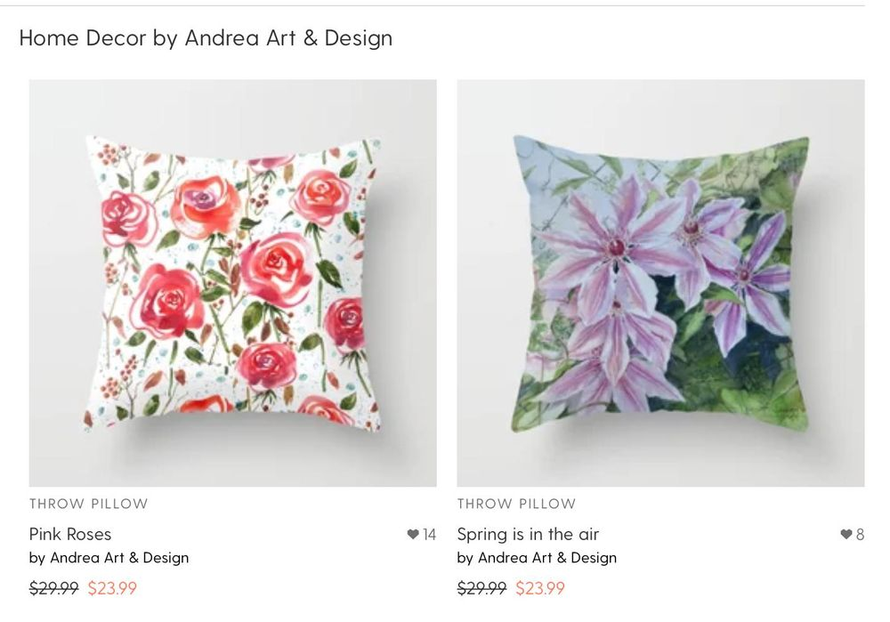 My shop at Society6 - image 4 - student project