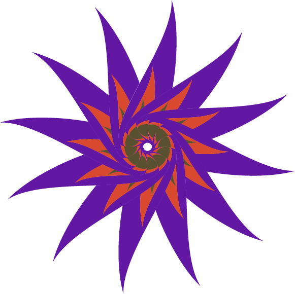 Overlapped Shape Flower - image 2 - student project