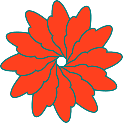 Overlapped Shape Flower - image 1 - student project