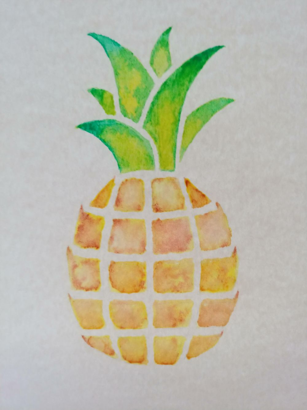 Watercolor Pineapple - image 1 - student project
