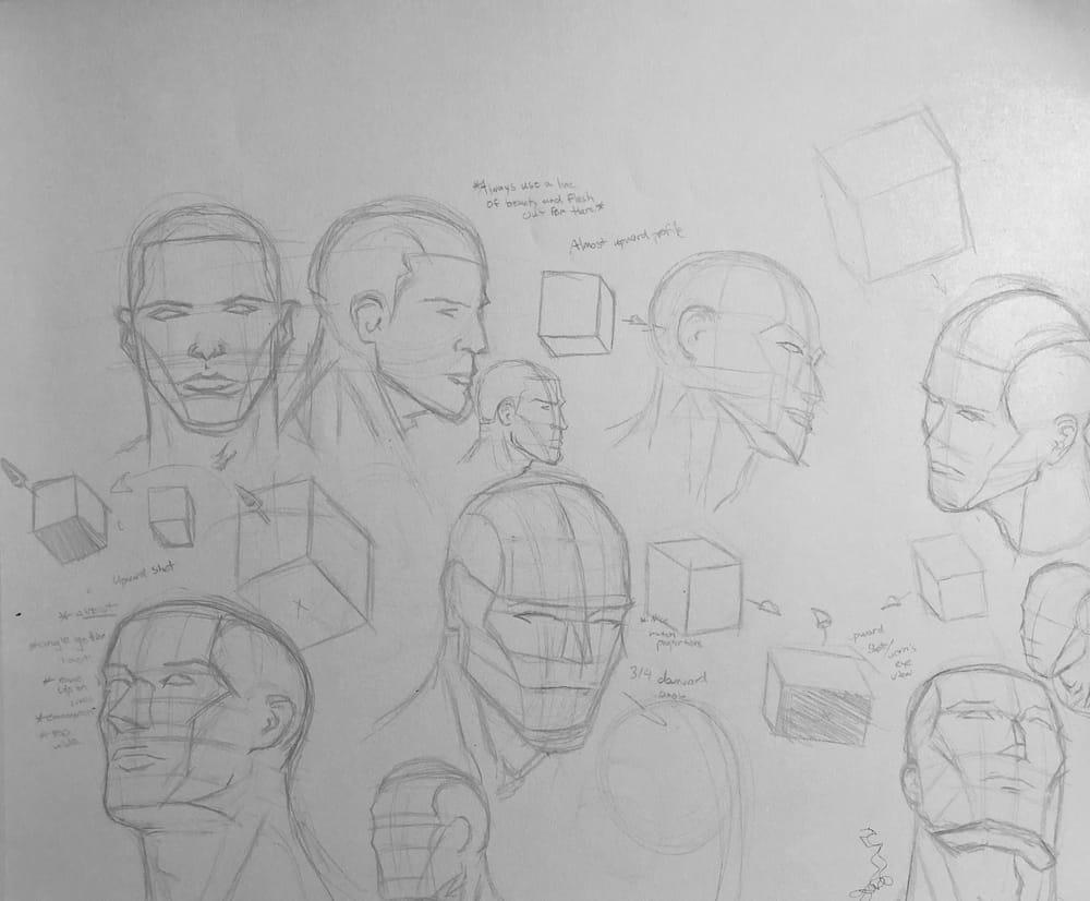 Superhero Head Studies - image 4 - student project