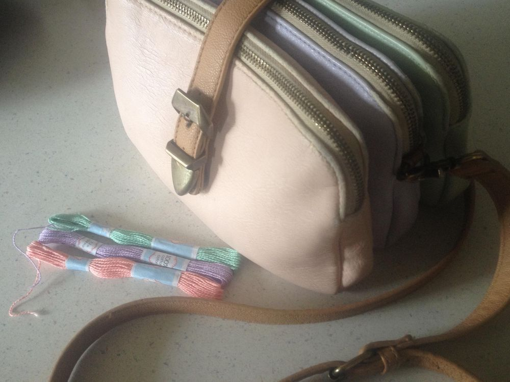 My Tri-Colour Purse & Matching Bracelet - image 1 - student project
