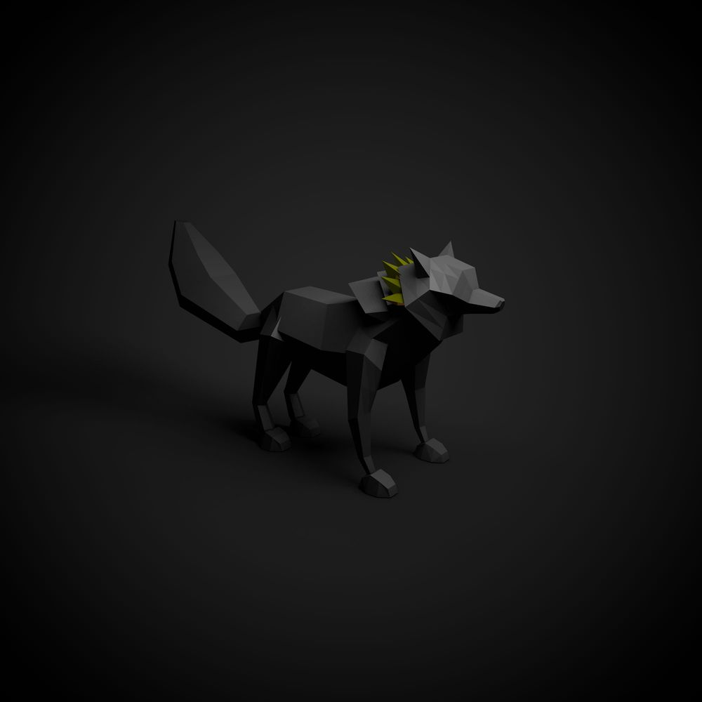 Low Poly Wolf - image 1 - student project