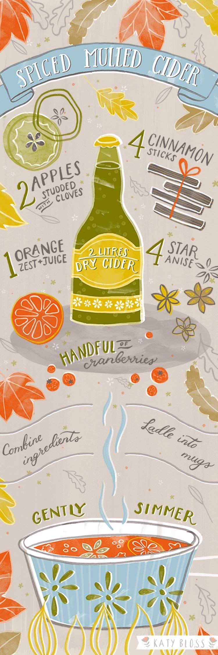 Spiced Mulled Cider Illustrated Recipe - image 3 - student project