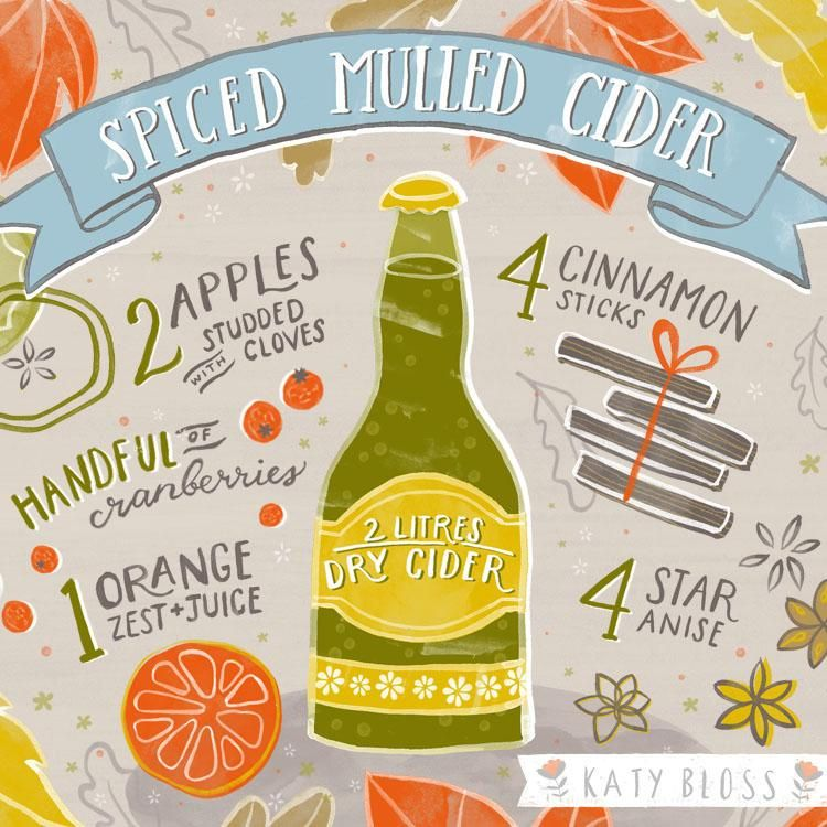 Spiced Mulled Cider Illustrated Recipe - image 4 - student project