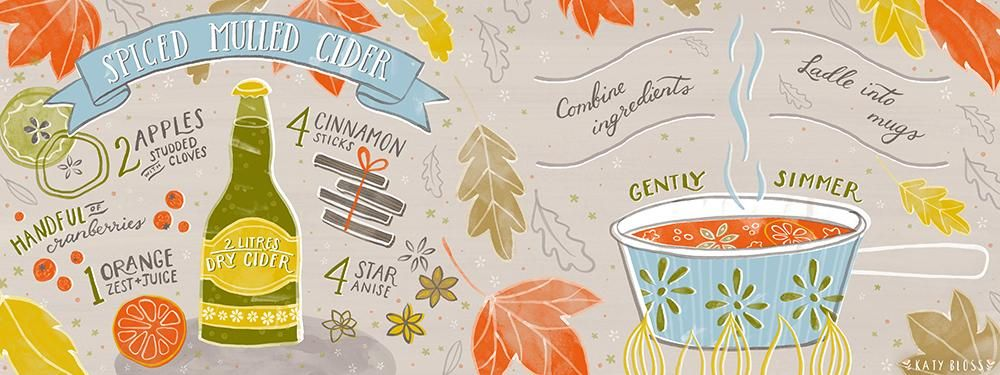 Spiced Mulled Cider Illustrated Recipe - image 1 - student project
