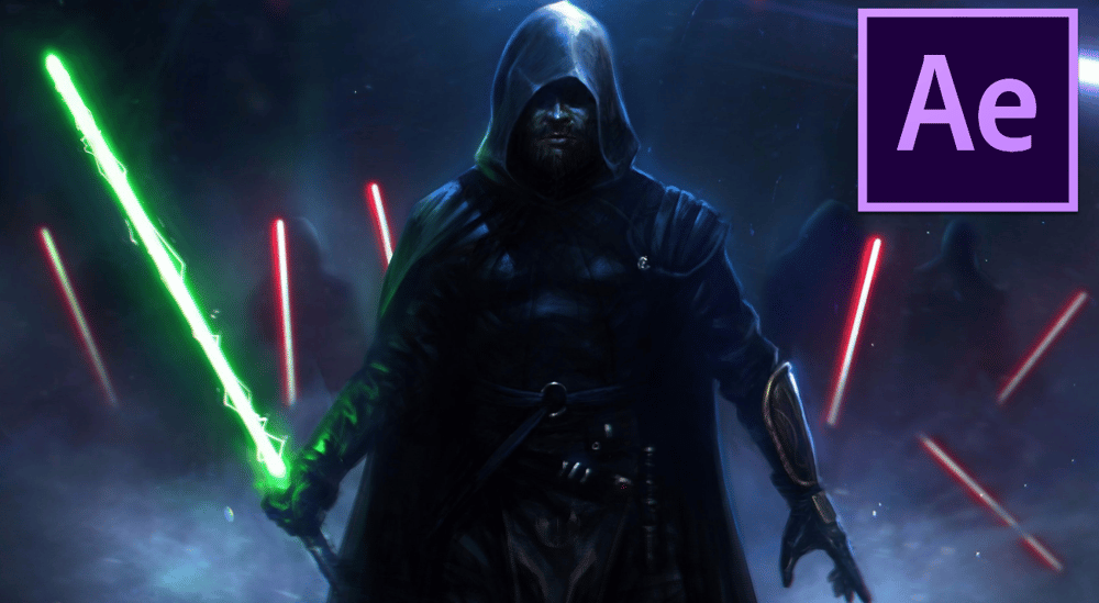 Lightsabers Effect For Beginner using Adobe After Effect - image 1 - student project