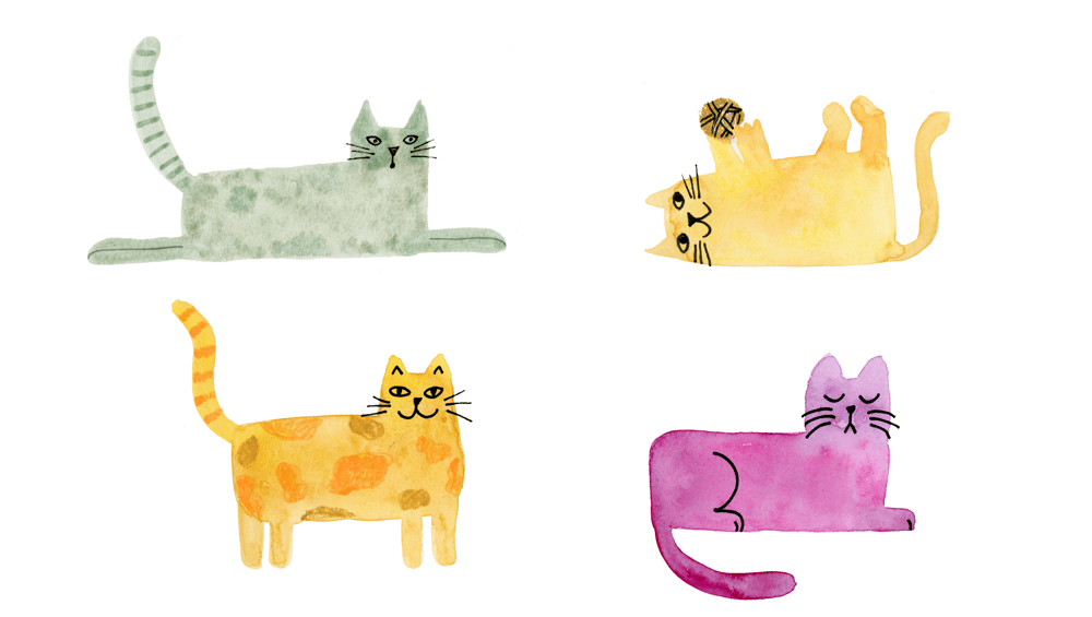 Watercolor Cats - image 2 - student project