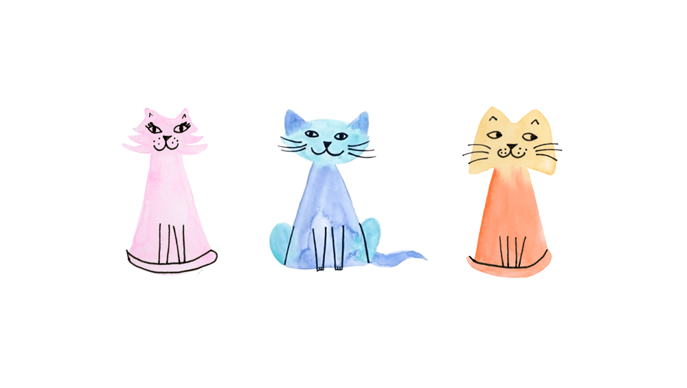Watercolor Cats - image 3 - student project