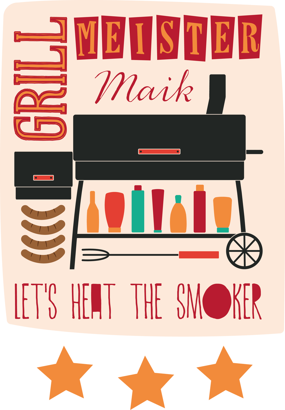 Illustration for a BBQ chef apron - image 3 - student project