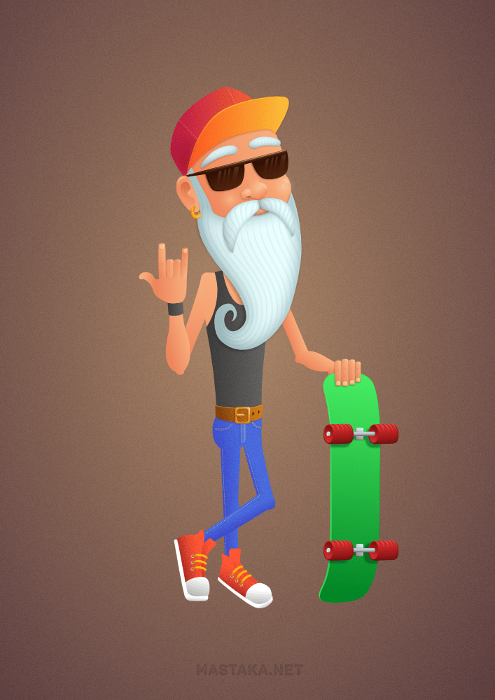 Old Skater: Colors - image 2 - student project