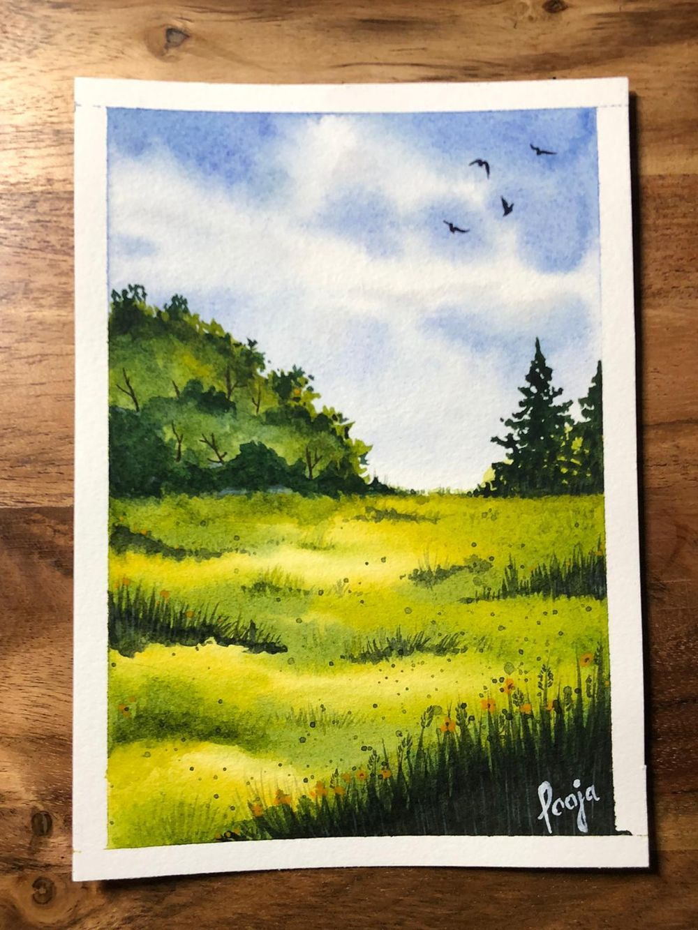 Green Watercolor Landscapes - Jan'21 - image 2 - student project
