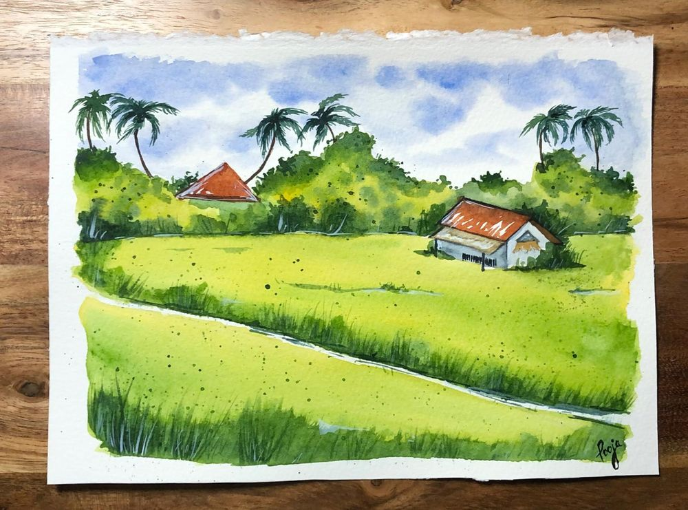 Green Watercolor Landscapes - Jan'21 - image 1 - student project