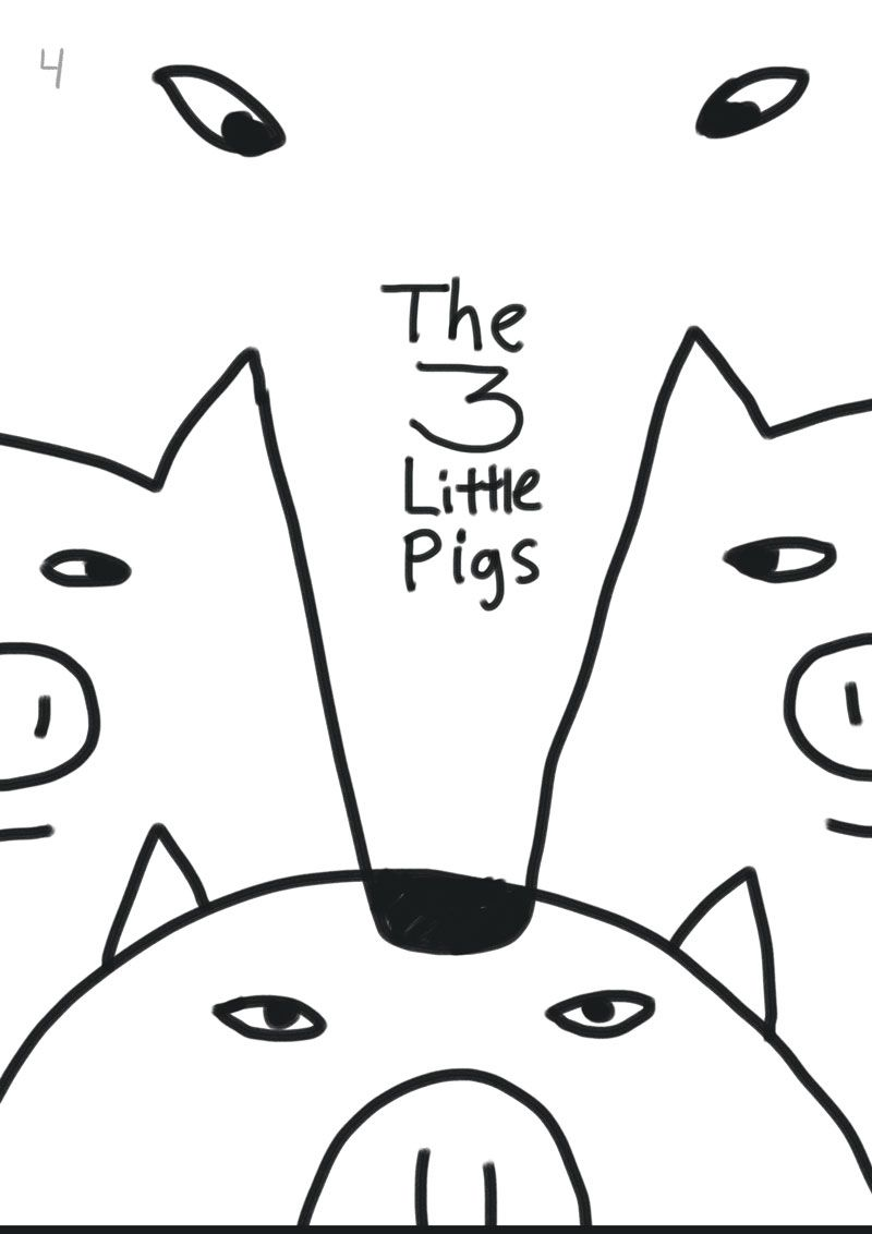 Children's book illustration | 3 Little Pigs | Kevin Foster  - image 4 - student project
