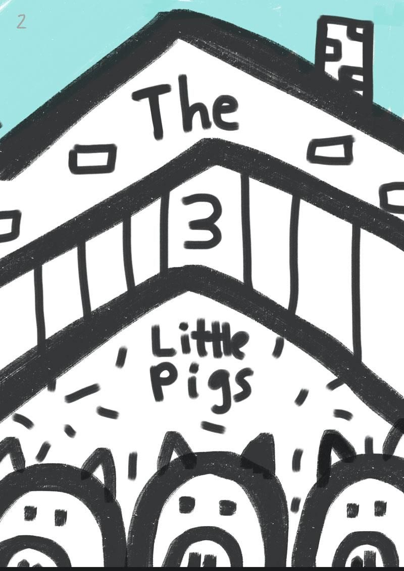 Children's book illustration | 3 Little Pigs | Kevin Foster  - image 2 - student project