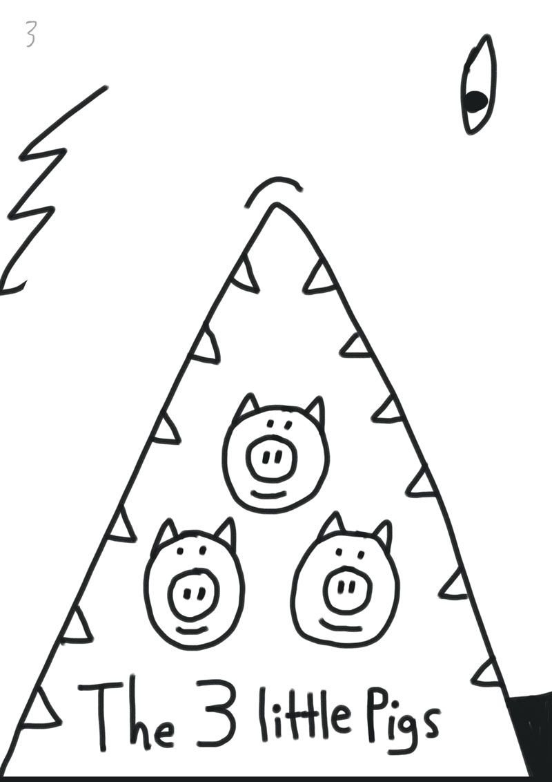 Children's book illustration | 3 Little Pigs | Kevin Foster  - image 3 - student project