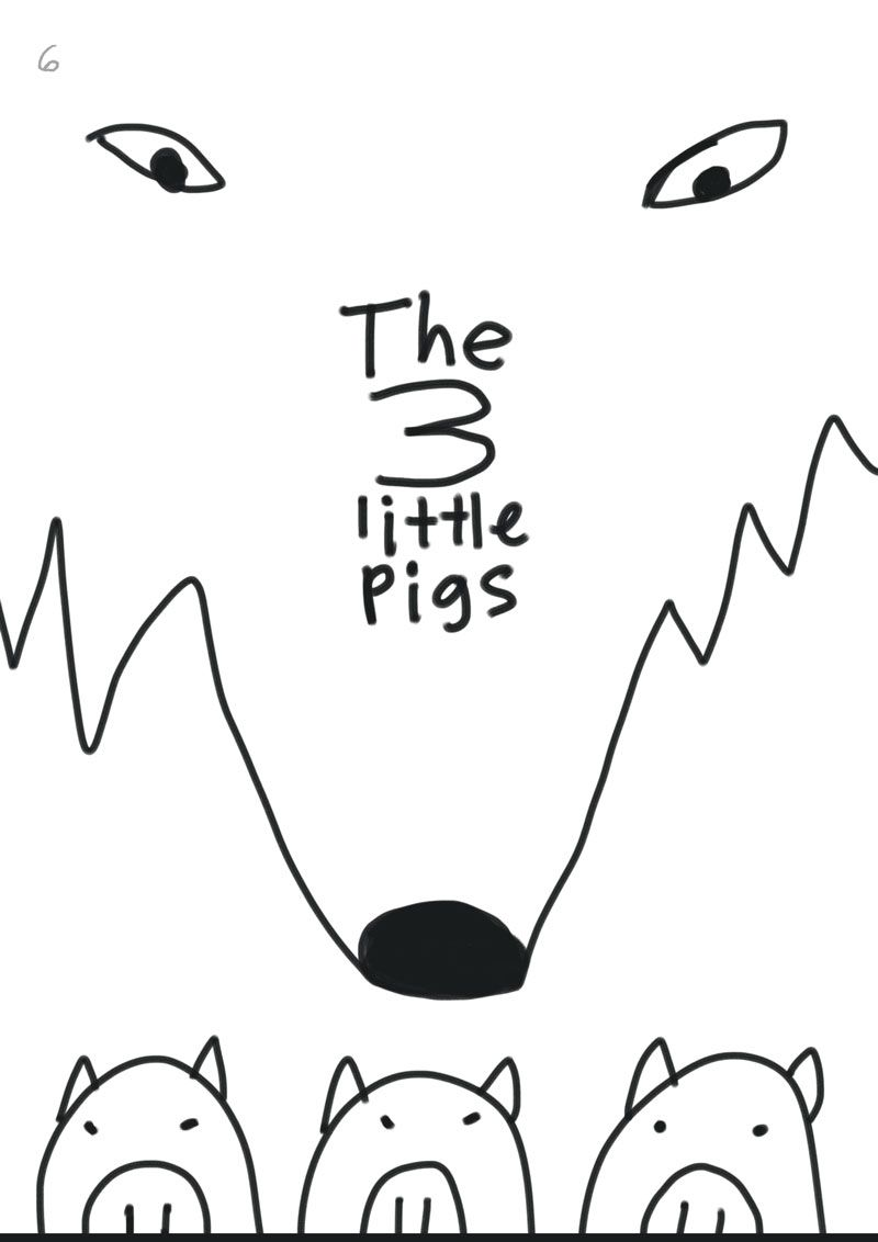 Children's book illustration | 3 Little Pigs | Kevin Foster  - image 6 - student project