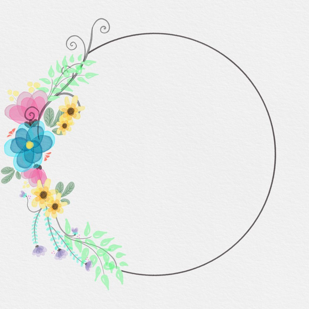 Watercolour wreath - image 1 - student project