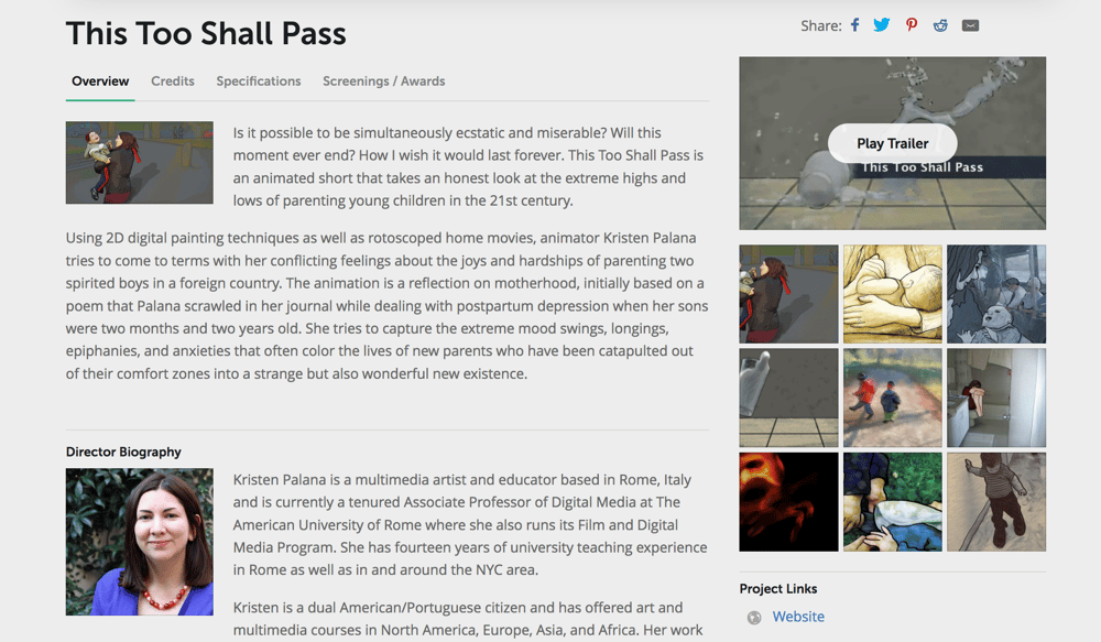 My Animation's Film Page at FilmFreeway.com (This Too Shall Pass) - image 1 - student project