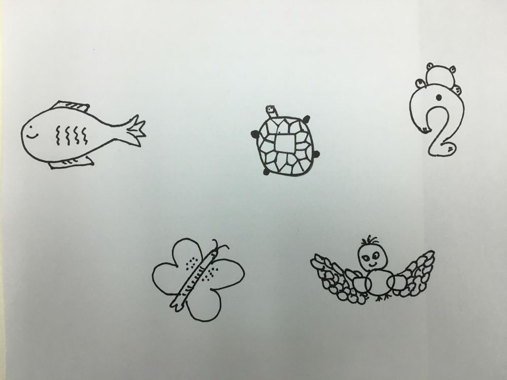Art of doodle - shape n animal project - image 1 - student project
