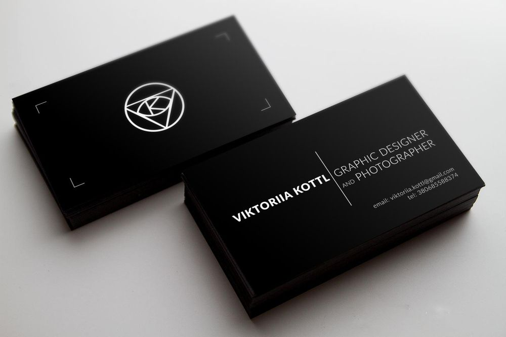 Business Card Viktoriia Kottl - image 3 - student project