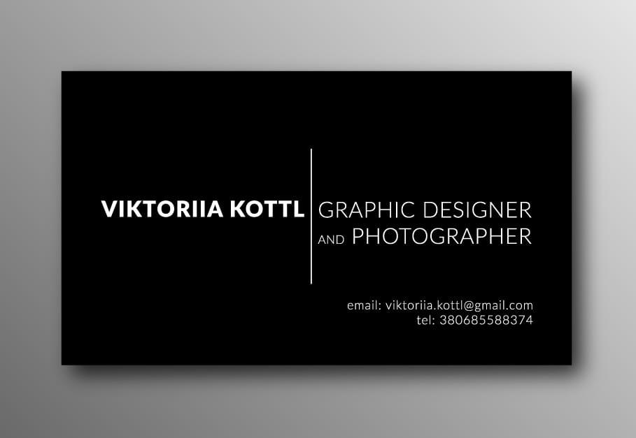 Business Card Viktoriia Kottl - image 2 - student project