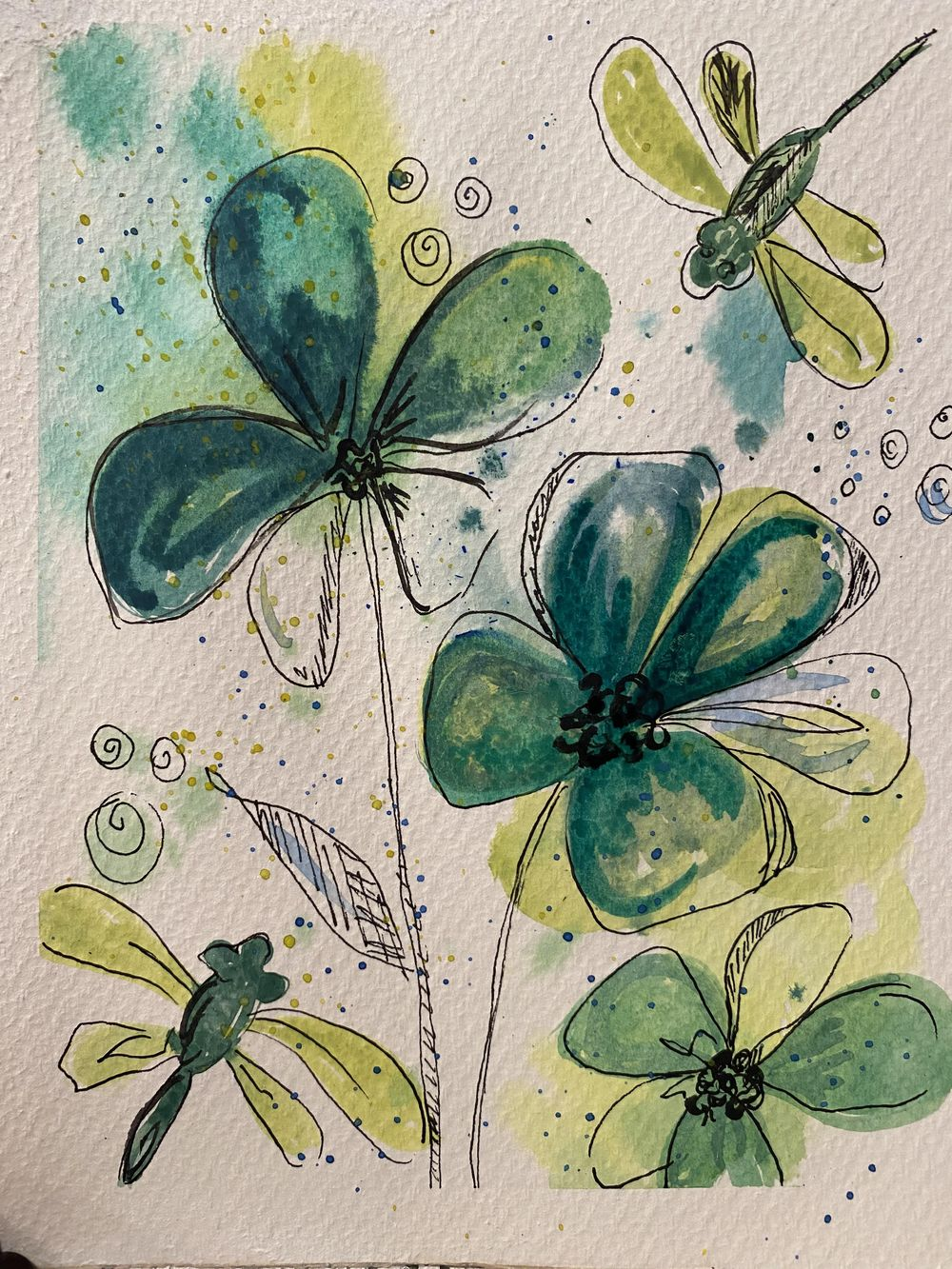 Water Color Leaves - image 1 - student project