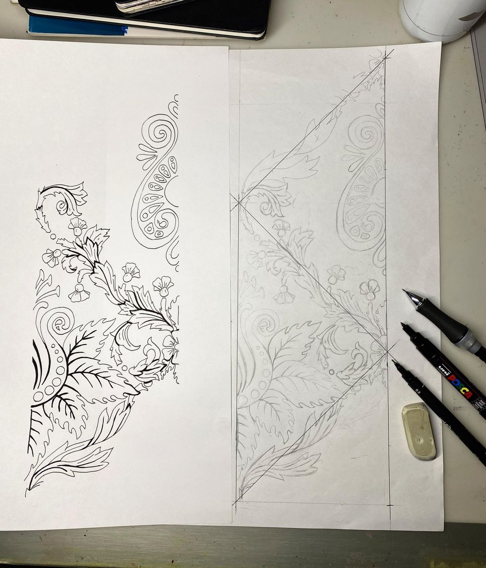 Classic Damask Patterns - image 6 - student project