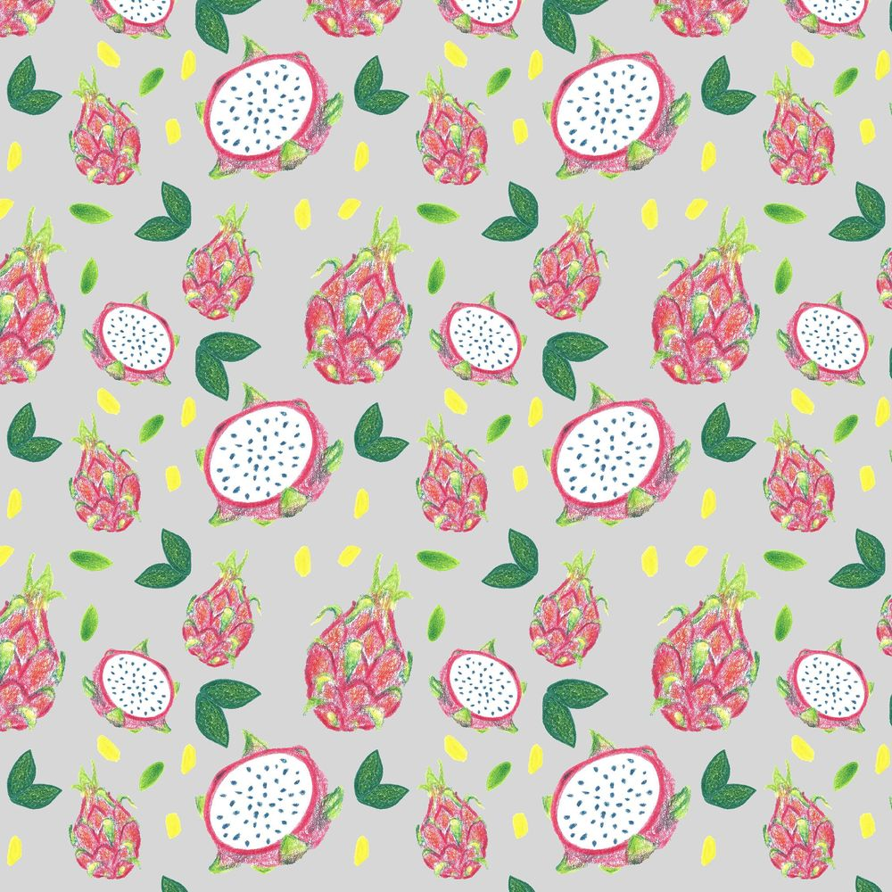 Dragonfruit Pattern + Geometric - image 14 - student project