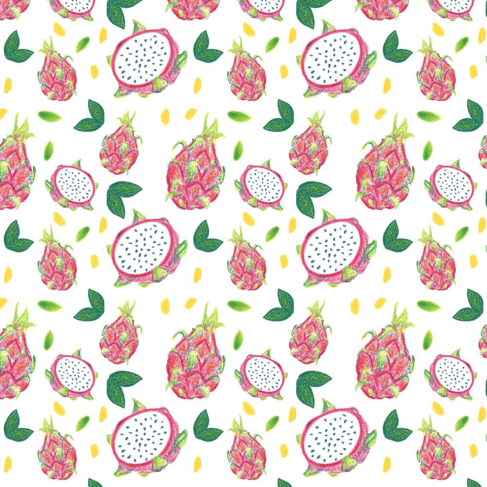 Dragonfruit Pattern + Geometric - image 10 - student project
