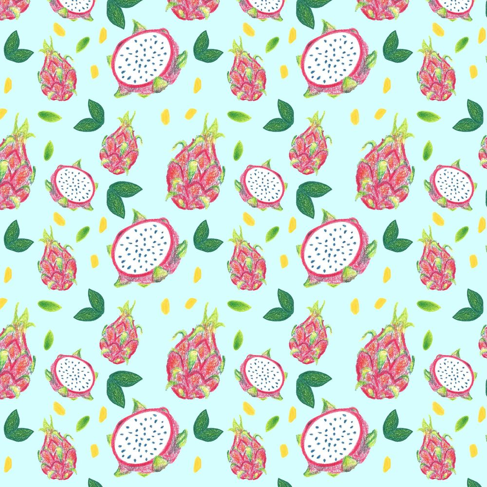 Dragonfruit Pattern + Geometric - image 11 - student project