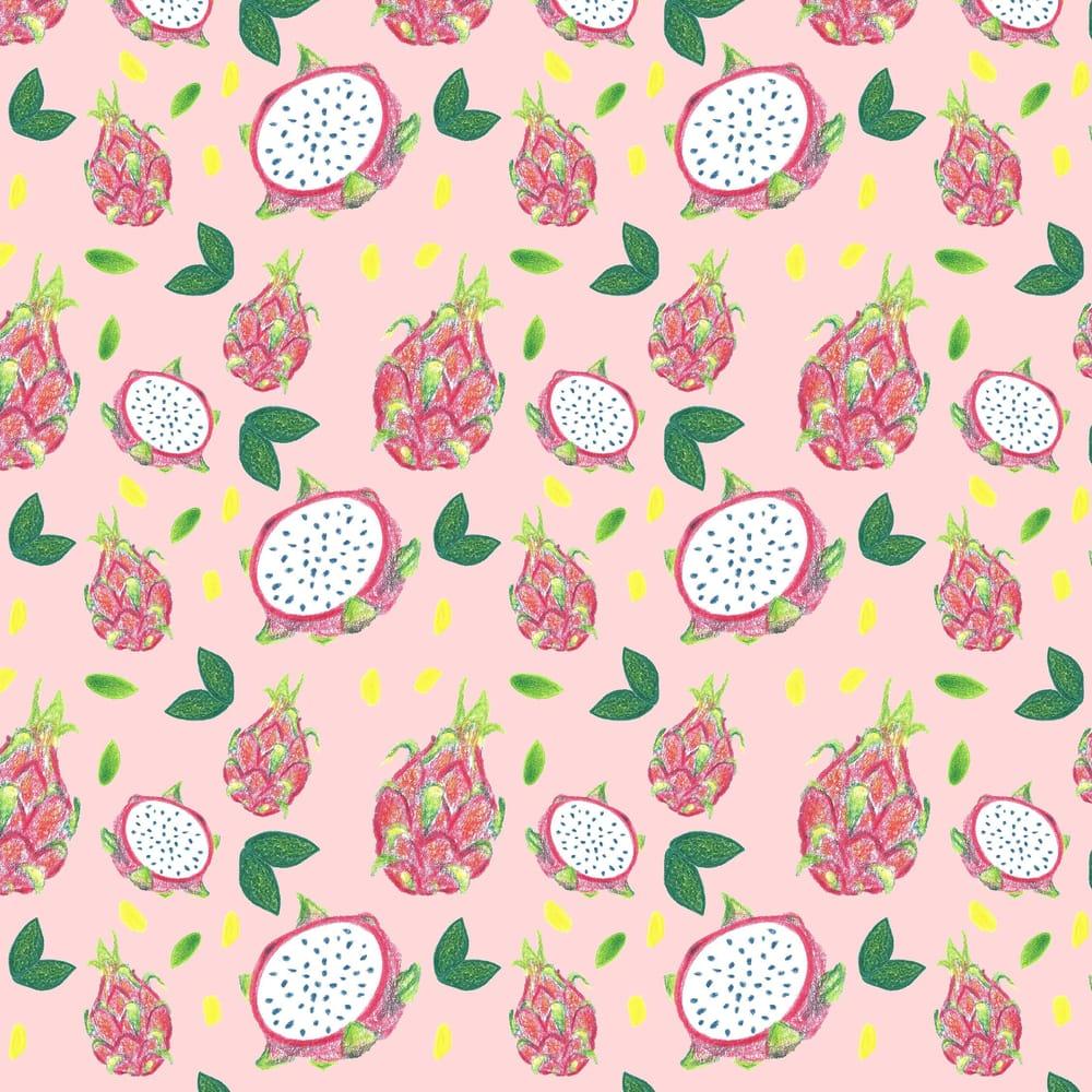 Dragonfruit Pattern + Geometric - image 12 - student project