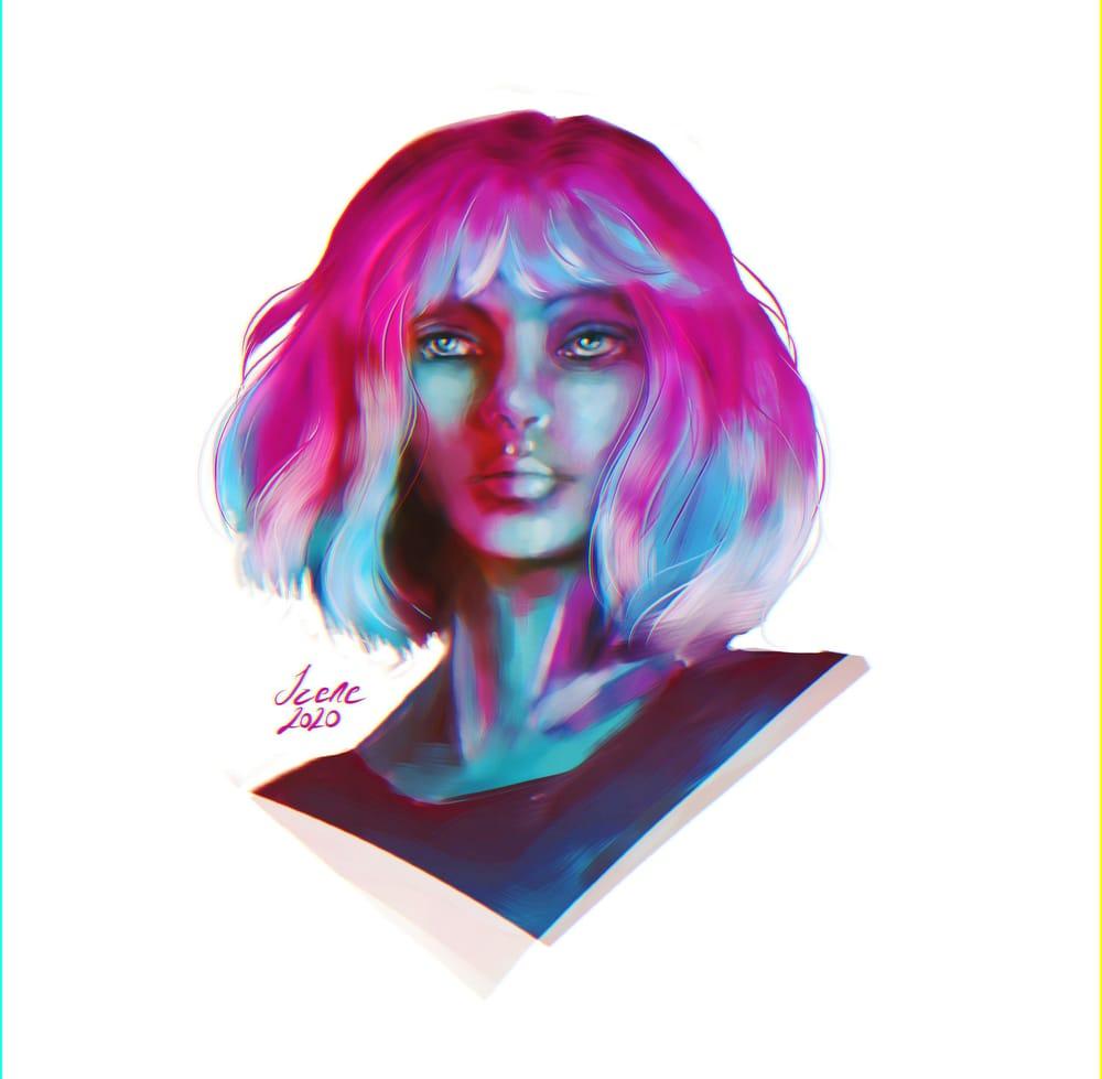 Digital Portrait Painting - image 1 - student project