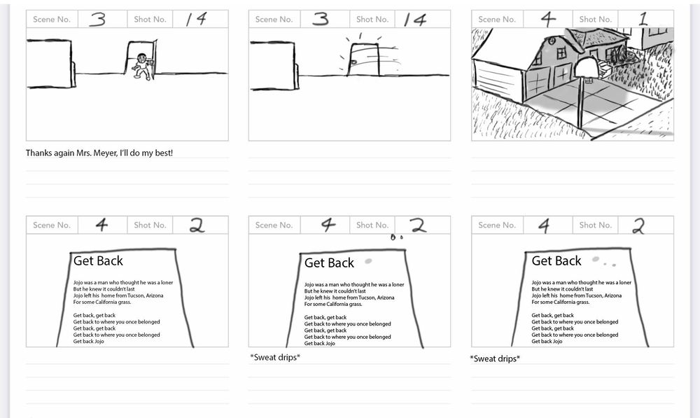 Solo Spotlight Storyboard - image 12 - student project