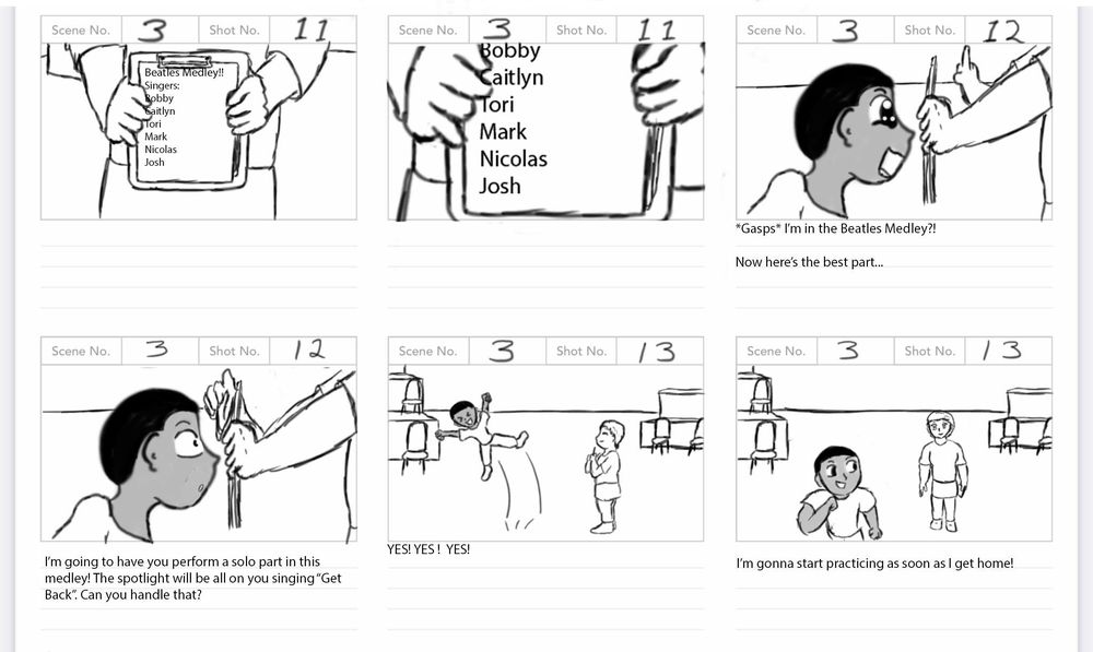 Solo Spotlight Storyboard - image 11 - student project