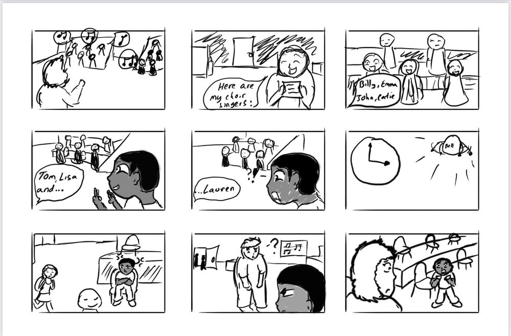 Solo Spotlight Storyboard - image 4 - student project