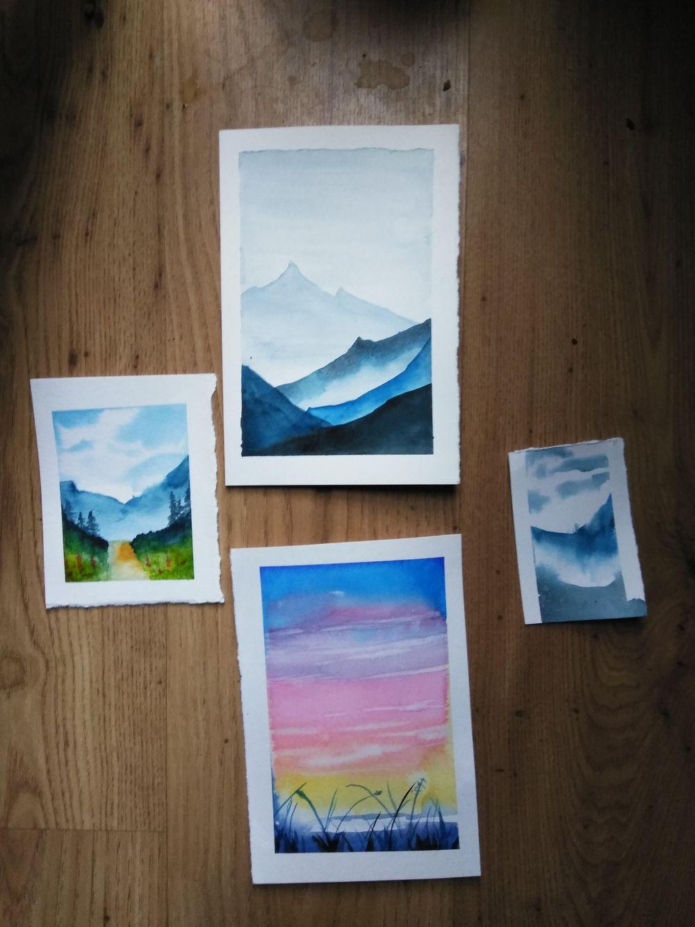 Landscape Watercolors - image 1 - student project